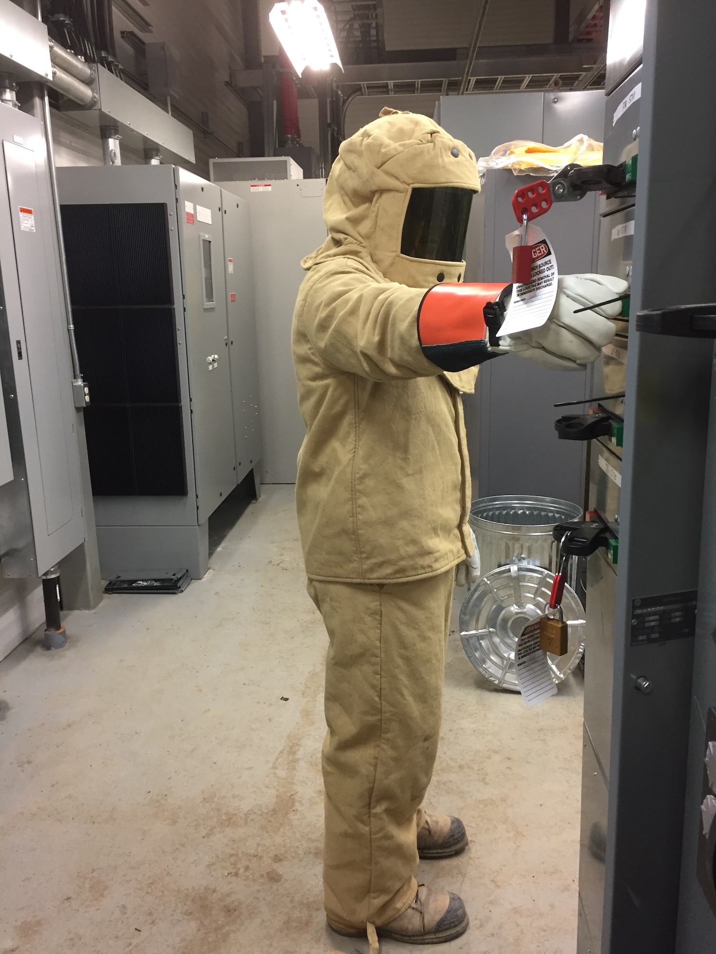 Arc Flash Protection Tip: Always stand to the side of a circuit breaker when energizing or de-energizing it