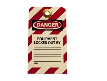 Industrial safety equipment lock out tag out