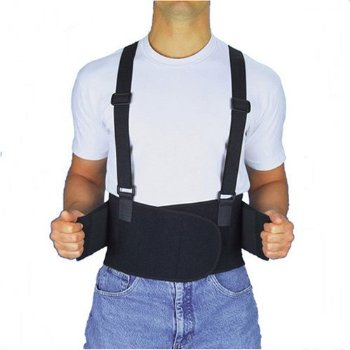 Back support belts prevent injuries