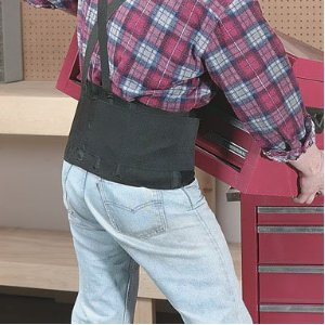 Wearing back support belts can help