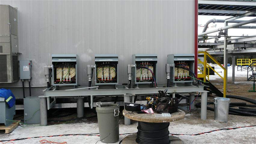 Four 75KVA Electrical Transformers