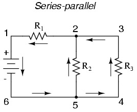 A typical series and parallel circuit combination