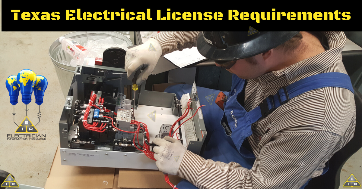 Texas Electrical License Requirements
