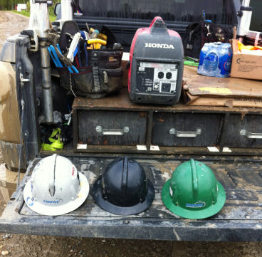 Most industrial electricians will be required to wear hardhats whenever they're working.